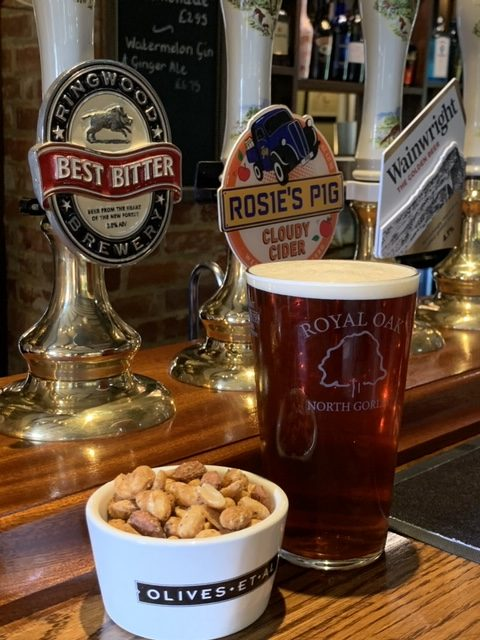 nuts and a pint of best bitter